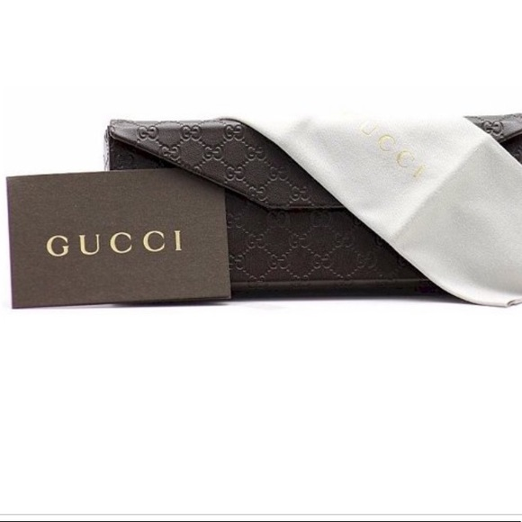 Authentic Gucci GG 1045 eyeglasses! Case with authentic cards Gucci /Color Gray